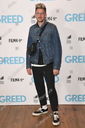 Stock Photo of Henry Holland attends the Special Screening of Greed in London. Greed releases in UK cinemas on the 21st February