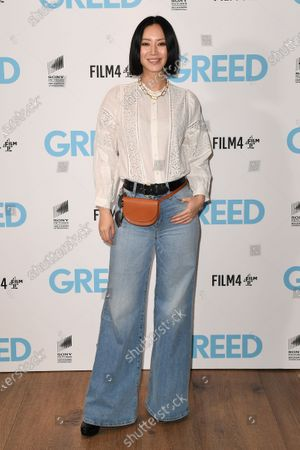 Betty Bachz attends the Special Screening of Greed in London. Greed releases in UK cinemas on the 21st February