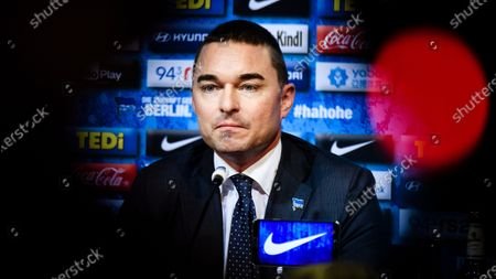 German businessman and Hertha BSC investor Lars Windhorst attends a press conference of the German Bundesliga soccer club in Berlin, Germany, 13 February 2020. Juergen Klinsmann, who stepped down as coach of Hertha BSC after ten weeks in charge, will not return as member of the supervisory board.