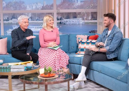 Phillip Schofield and Holly Willoughby with Joel Dommett