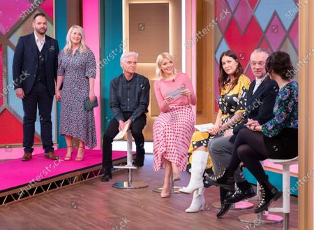Louise and Peter Holmesdon with Phillip Schofield, Holly Willoughby, Josh Wood and Patsy O'Neil