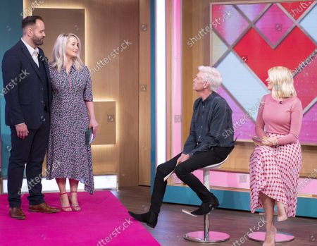 Josh Wood and Patsy O'Neil with Phillip Schofield and Holly Willoughby