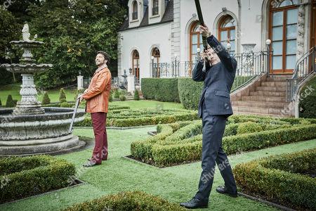 Stock Photo of Shaun Evans as Endeavour and Ryan Gage as Ludo.