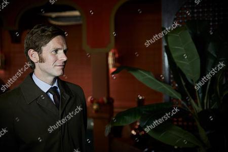 Shaun Evans as Endeavour.