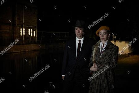 Flora London as Bridget and Roger Allam as Fred Thursday.
