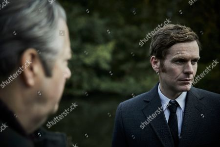 Shaun Evans as Endeavour and Roger Allam as Fred Thursday.
