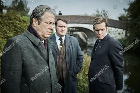 Shaun Evans as Endeavour, Sean Rigby as DS Jim Strange and Roger Allam as Fred Thursday.