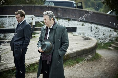 Stock Photo of Shaun Evans as Endeavour and Roger Allam as Fred Thursday.