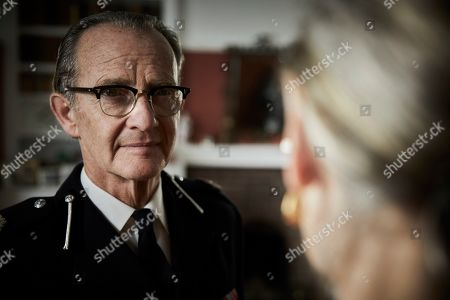 Stock Image of Anton Lesser as Chief Super Reginald Bright and Carol Royle as Mrs Bright.