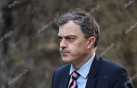 (FILE) British Secretary of State for Northern Ireland Julian Smith arrives for a cabinet meeting at 10 Downing Street in London, Britain, 06 February 2020 (reissued 13 February 2020). Smith was sacked from his post in a cabinet reshuffle 13 February 2020.