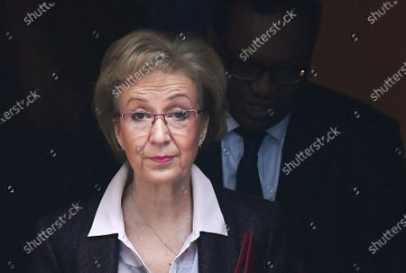 (FILE) British Secretary of State for Business, Energy and Industrial Strategy Andrea Leadsom departs a cabinet meeting at 10 Downing Street in London, Britain, 06 February 2020 (reissued 13 February 2020). Leadsom was sacked in a cabinet reshuffle 13 February 2020.