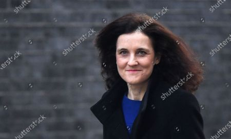 (FILE) British Secretary of State for Environment, Food and Rural Affairs Theresa Villiers arrives for a cabinet meeting at 10 Downing Street in London, Britain, 06 February 2020 (reissued 13 February 2020). Villiers was sacked in a cabinet reshuffle 13 February 2020.