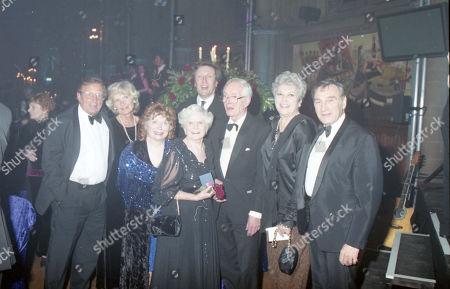 Coronation Street 40th Anniversary party. Kenneth Farrington, Angela Crow, Daphne Oxenford, Anne Cunningham and Ernst Walder
