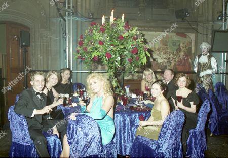 Coronation Street 40th Anniversary party. Nicholas Cochrane, Beverley Callard and Denise Welch
