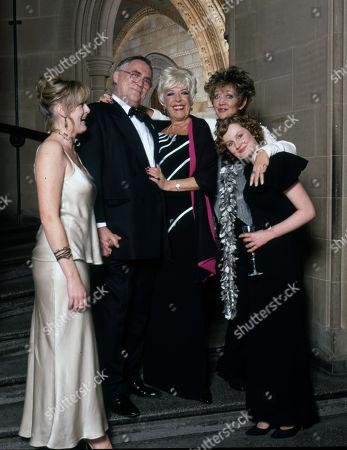 Coronation Street 40th Anniversary party. Sarah Lancashire, William Tarmey, Julie Goodyear, Amanda Barrie and Chloe Newsome