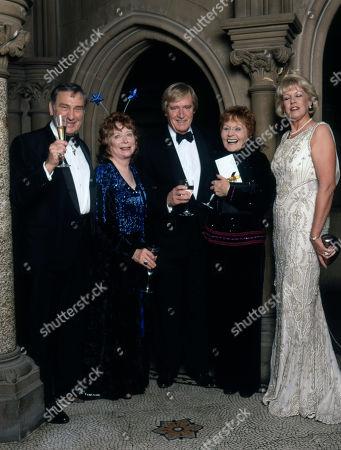 Coronation Street 40th Anniversary party. Ernst Walder, Angela Crow, William Roache, Doreen Keogh and Sara Roache