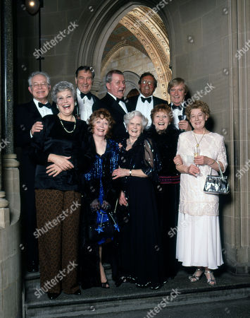 Stock Picture of Coronation Street 40th Anniversary party. Back row: Alan Rothwell, Ernst Walder, Tony Warren, Kenneth Farrington and William Roache Front row: Anne Cunningham, Angela Crow, Daphne Oxenford, Doreen Keogh and Jean Alexander