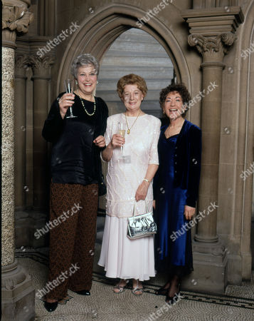Stock Photo of Coronation Street 40th Anniversary party. Anne Cunningham, Jean Alexander and Jennifer Moss