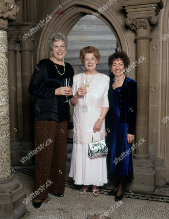 Stock Picture of Coronation Street 40th Anniversary party. Anne Cunningham, Jean Alexander and Jennifer Moss
