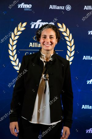 Spanish rider and former Supersport 300 world champion Ana Carrasco attends the World Champion gala organized by the Royal Spanish Motorcycling Federation (RFME) in Madrid, Spain, 13 February 2020.