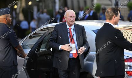Former South African President and Nobel Peace Price winner, FW De Klerk arrives during the annual State of the Nation (SONA) address and opening of the national parliament in Cape Town, South Africa, 13 February 2020.