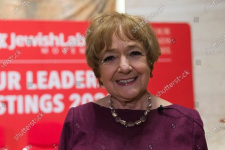 Dame Margaret Hodge MP at the Jewish Labour Movement (JLM) Labour Party leadership hustings held at the Liberal Jewish Synagogue in St John's Wood. The JLM will announce its leadership nomination on Friday February 14th.
