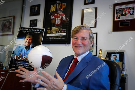 Sports agent Leigh Steinberg poses for a picture at his office, in Newport Beach, Calif. A decade after his personal and professional life bottomed out, Steinberg has another Super Bowl MVP client, saw another former client be elected to the Pro Football Hall of Fame and could have yet another first-round draft pick in the spring