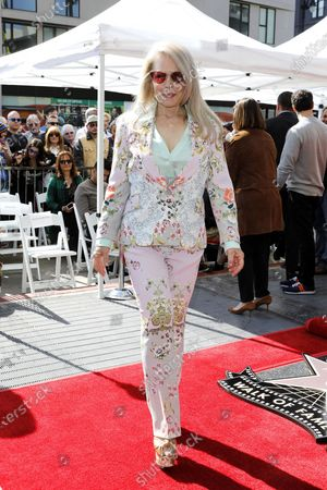 Beverly D'Angelo attends a star ceremony honoring Canadian puppeteers Sid and Marty Krofft with the 2687th star on the Hollywood Walk of Fame in Los Angeles, California, USA, 13 February 2020. The star is dedicated in the category of Television.