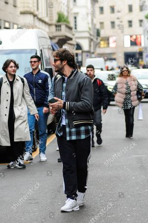 Editorial picture of Stefano De Martino out and about, Milan, Italy - 13 Feb 2020