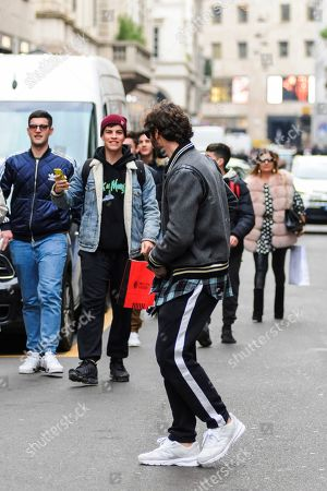 Editorial photo of Stefano De Martino out and about, Milan, Italy - 13 Feb 2020