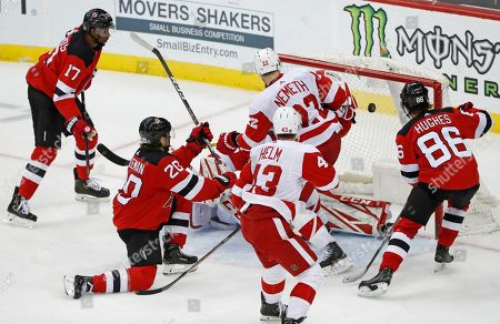 Editorial picture of Red Wings Devils Hockey, Newark, USA - 13 Feb 2020