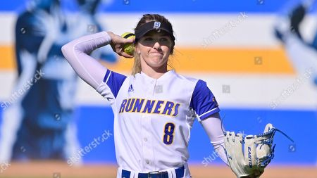 CSU Bakersfield's Katie Jackson during an NCAA softball game on in Los Angeles