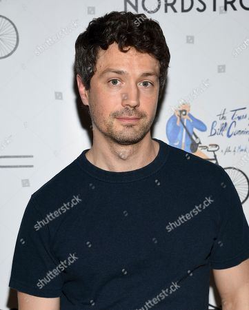 """Christian Coulson attends a special screening of """"The Times of Bill Cunningham """", hosted by MAC, Nordstrom and the CFDA, at the Angelika Film Center, in New York"""