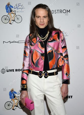 """Jordan Roth attends a special screening of """"The Times of Bill Cunningham """", hosted by MAC, Nordstrom and the CFDA, at the Angelika Film Center, in New York"""