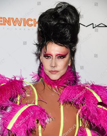 """Susanne Bartsch attends a special screening of """"The Times of Bill Cunningham """", hosted by MAC, Nordstrom and the CFDA, at the Angelika Film Center, in New York"""