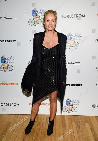 """Frederique Van Der Wal attends a special screening of """"The Times of Bill Cunningham """", hosted by MAC, Nordstrom and the CFDA, at the Angelika Film Center, in New York"""