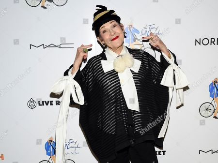 """Stock Image of Tziporah Salamon attends a special screening of """"The Times of Bill Cunningham"""", hosted by MAC, Nordstrom and the CFDA, at the Angelika Film Center, in New York"""