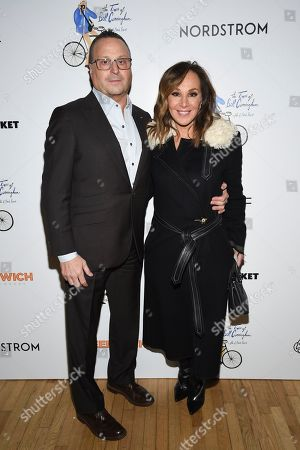 "Louis Ruggiero, Rosanna Scotto. Rosanna Scotto, right, and husband Louis Ruggiero attend a special screening of ""The Times of Bill Cunningham "", hosted by MAC, Nordstrom and the CFDA, at the Angelika Film Center, in New York"