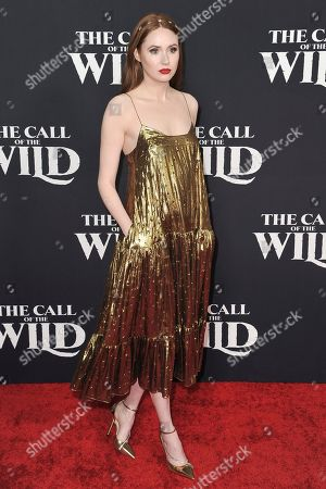"Karen Gillan attends the world premiere of ""The Call of the Wild"" at the El Capitan Theatre, in Los Angeles"
