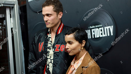 """Karl Glusman and Zoe Kravitz attend the premiere of Hulu's """"High Fidelity"""" at Metrograph, in New York"""