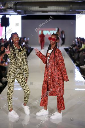Stock Picture of Jessie and Chance Combs (Sean Combs daughters)
