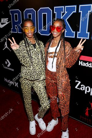 Stock Photo of Jessie and Chance Combs (Sean Combs daughters)
