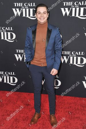 """Jake T Austin attends the world premiere of """"The Call of the Wild"""" at the El Capitan Theatre, in Los Angeles"""