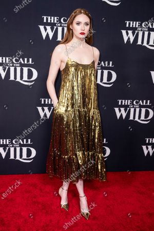 Karen Gillan poses on the red carpet prior to the world premiere of 20th Century Studios' film 'The Call of the Wild' at El Capitan Theater in Hollywood, California, USA, 13 February 2020. The film will be released in the USA on 21 February.