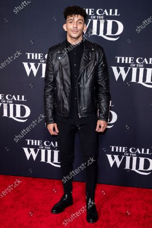 Stock Image of Khleo Thomas poses on the red carpet prior to the world premiere of 20th Century Studios' film 'The Call of the Wild' at El Capitan Theater in Hollywood, California, USA, 13 February 2020. The film will be released in the USA on 21 February.
