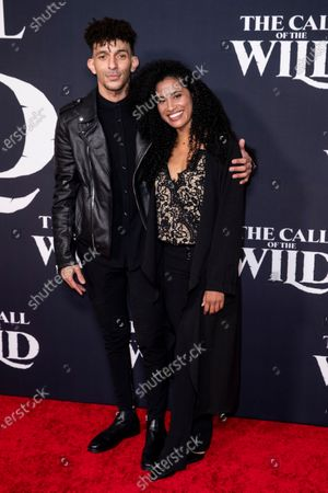Khleo Thomas (L) and guest pose on the red carpet prior to the world premiere of 20th Century Studios' film 'The Call of the Wild' at El Capitan Theater in Hollywood, California, USA, 13 February 2020. The film will be released in the USA on 21 February.