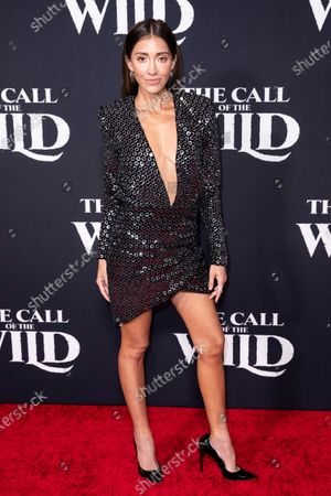 Fernanda Romero poses on the red carpet prior to the world premiere of 20th Century Studios' film 'The Call of the Wild' at El Capitan Theater in Hollywood, California, USA, 13 February 2020. The film will be released in the USA on 21 February.