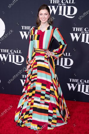Isabella Blake-Thomas poses on the red carpet prior to the world premiere of 20th Century Studios' film 'The Call of the Wild' at El Capitan Theater in Hollywood, California, USA, 13 February 2020. The film will be released in the USA on 21 February.