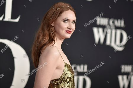 "Karen Gillan attends the premiere of ""The Call of the Wild"" at El Capitan Theatre, in Los Angeles"