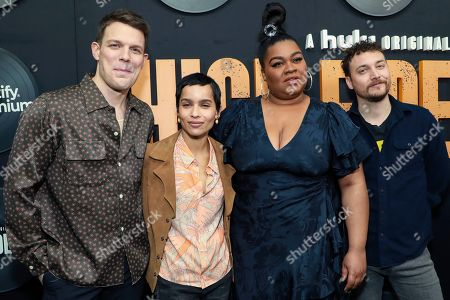 "Jake Lacy, Zoe Kravitz, Da'Vine Joy Randolph, David H. Holmes. Jake Lacy, Zoe Kravitz, Da'Vine Joy Randolph and David H. Holmes, from left, attend the premiere of Hulu's ""High Fidelity"" at Metrograph, in New York"